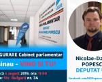 Deputatul USR Daniel Popescu deschide un birou parlamentar la Chişinău