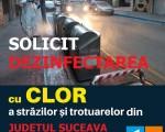 Solicit de urgenţă dezinfectarea spaţiului public de pe întreg teritoriul judeţului Suceava!